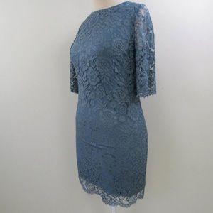 Hitherto Floral Lace Career Sheath Dress Sz 10 J10